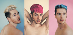Bubblegum (Mark Liddell) Tags: pink blue boy portrait white man hot guy me armpit tattoo ink self silver hair naked nude industrial waves alt turquoise teal side shaved hipster bleach scottish style fringe piercing part blond bitch pastels ear blonde indie mens scaffold fade torso bone bubblegum bangs collar dye hairstyle platinum eyebrows alternative stubble defined clavicles markliddell bleachlondon