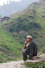 Malana (Niyantha) Tags: travel portrait india man mountains green village indian hills greenery himachal himachalpradesh malana parvativalley peoplephotos peopleinparvativalley