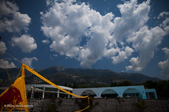 volleyball net and the mountain (filipe mota rebelo | 400.000 views! thank you) Tags: vacation mountain clouds canon volleyball balkans albania volley redbull 2014 balcans fmr drymades 5dmarkii filipemotarebelo