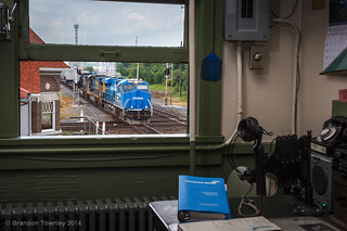 Conrail Heritage on CSX Q008 n Marion, OH