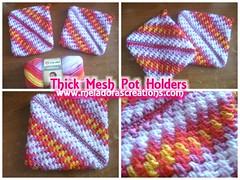 Thick Mesh Pot Holders Combo pic (Meladora) Tags: crochet potholders freecrochetpattern