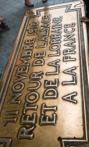 Plaque sous l'Arc de Triomphe
