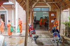 After school (sirouni) Tags: school playing children temple classroom monk monks chiangmai wat phantao watphantao x100s