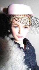 Miss Grace at lunch (larry_boy17) Tags: celebrity beautiful hat fashion club fur lunch doll dolls veil ken barbie grace suit stunning kelly stole silkstone