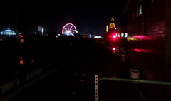 Coney Island Subway Terminal Nightview (Robert S. Photography) Tags: nyc summer colour brooklyn night subway coneyisland lights view samsung terminal amusementpark elevated wonderwheel 2014 st150f