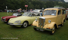 Three Different Vehicles (Midgehole Dave) Tags: england bradford unitedkingdom deluxe ds utility mg 1970 1968 midget 1951 hebdenbridge 2014 vintageweekend