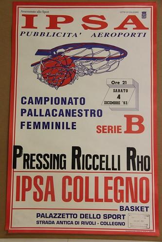 Manifesto Collegno Basket vs. Rho - Serie B Femminile
