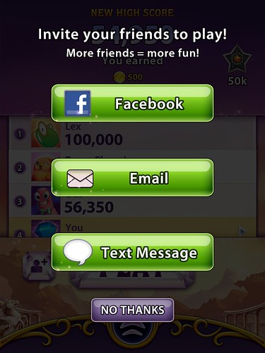Bejeweled Blitz Social: screenshots, UI