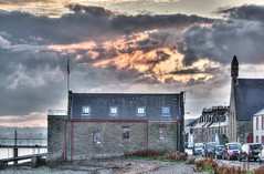 Burning Sky (Neillwphoto) Tags: sunset ferry clouds river dundee jetty shed tay lifeboat broughty hdr listedbuilding tonemapped listedbuildingsofscotland hbnumber25805