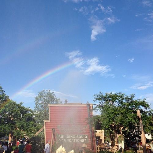 Rainbow at Disneyland
