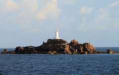 La Corbiere Lighthouse, Jersey (Burton Babes) Tags: sea lighthouse water concrete islands la rocks scenic first jersey british isles channel corbiere explored