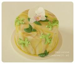 Geckos (_ Marianne_) Tags: gecko marianne orchidee torte kurs marmorierung motivtorte tortendekoration zuckerwelt