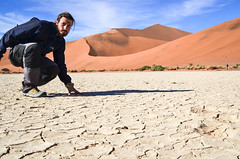 Dry salt pans in Sossusvlei, Namibia (jbdodane) Tags: africa bigdaddy cracked day622 desert dry dunes jb namibnaukluft namibnaukluftpark namibia pan sand sanddunes sesriem sossusvlei vlei freewheelycom jbcyclingafrica