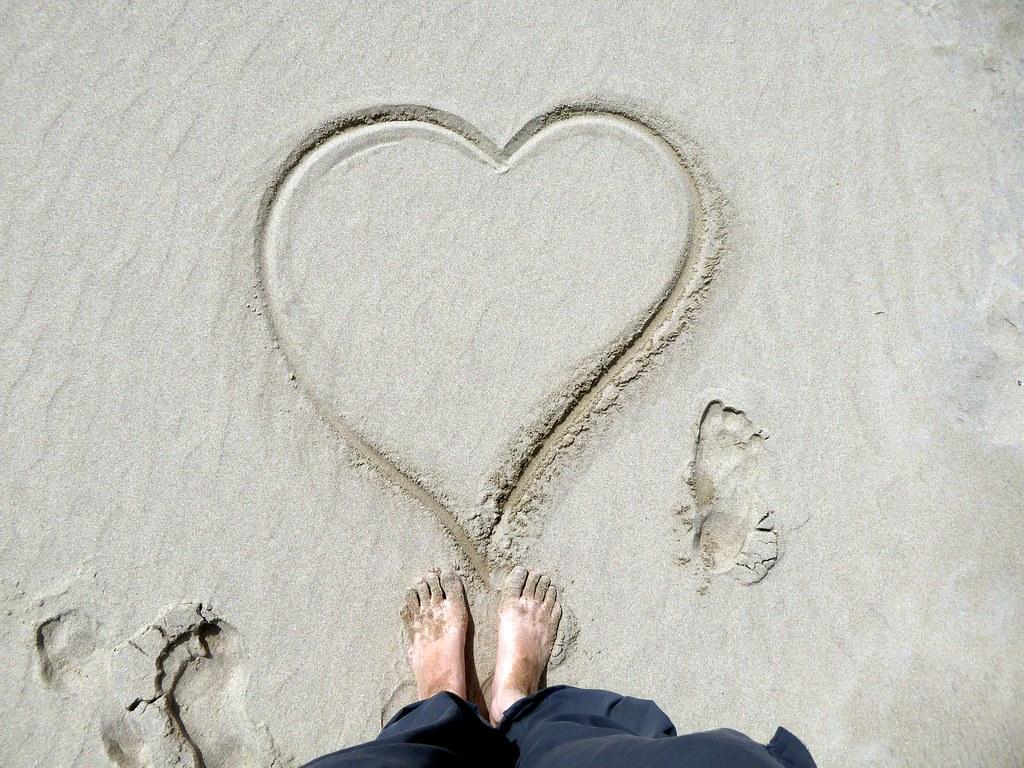 Sand heart art