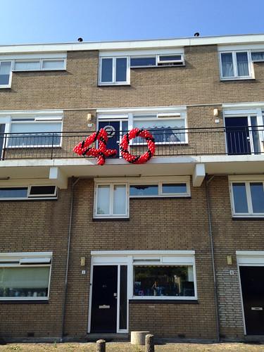 Balloncijfers 40 Jaar Rood Zwart
