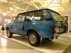 First Range Rover . (steven.barker57) Tags: uk blue england heritage 1969 wheel museum four drive 4x4 display first rover production motor suv range gaydon holiday27082014