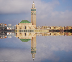 Hassan 2 mosque (Houssam Alami) Tags: architecture islam prayer religion mosque morocco arab casablanca orient hassan2