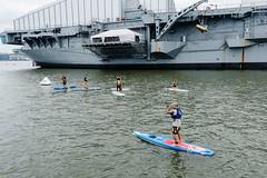 Launching near the USS Intrepid (Dan Nguyen @ New York City) Tags: nyc summer river outdoors manhattan kayaking hudsonriver gothamist hellskitchen ussintrepid manhattankayakcompany