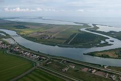 Delta.del.Po_aerial_13 (Gianluca Nani) Tags: river aerialview lagoon po laguna rivermouth foce deltadelpo podelta visionedallalto campocoltivato visioneaerea fieldagriculture poditolle podelletolle