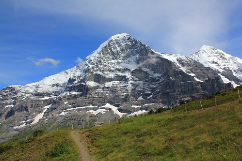 Walking in the mountains, the famous Eiger