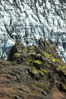 Glacier vs. Rocks