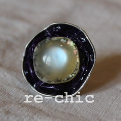 Purple Nespresso ring (re-chic) Tags: pod handmade capsule jewelry bijoux ring button recycle nespresso gioielli anello bottone riciclo rechic