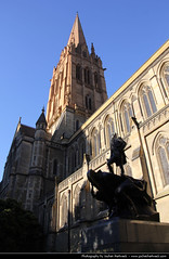 St Paul's Cathedral, Melbourne, Australia (JH_1982) Tags: building church saint st statue architecture religious cathedral religion australia melbourne pauls landmark victoria historic christian vic christianity australien spiritual anglican australie austrlia diocese apostle   australi