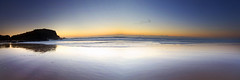 Reflections of the Morning || Cabarita Beach (edwinemmerick) Tags: ocean sea sky panorama cloud seascape weather silhouette photoshop sunrise canon coast sand waves stitch shoreline dos shore 7d coastline edwin headland cs3 emmerick edwinemmerick caberitabeach