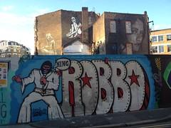 KING ROBBO R.I.P - DISCREET (jACK TWO) Tags: street urban streetart london graffiti king rip evil londres rua pure robb eastlondon robbo artederua discreet paintspraypaint