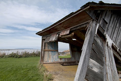 Abandoned barn on the river bank (Natimages) Tags: old building abandoned barn pentax qubec riverbank stgermain stlawrenceriver k7 da1650 standrdekamouraska