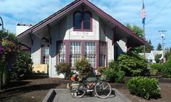 Sheridan, Oregon. Once the train station, now the City Hall. (urbanadventureleaguepdx) Tags: