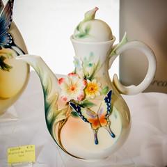 Fluttering Beauty Teapot by Franz (Tex Texin) Tags: beauty butterfly ceramic franz pottery teapot fluttering