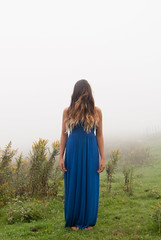 Brain (Addison Wemyss) Tags: blue red music mist mountains flower color floral girl beautiful fashion fog fairytale dark lost photography trapped model pretty dress forrest fashionphotography fineart deep vogue fairy pasture concept conceptual feild fineartphotography conceptualphotography fineartphotograph