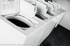 Meanwhile at the Laundry Room 288/365 (Barstow Steve) Tags: white black project room laundry 365 washers dryers