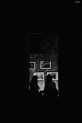 Throught the window (Ted Nikolakopoulos) Tags: girls light music black art window silhouette festival dark squares paintings consert