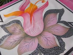 essa é minha...a última do trio (Crafter of Work) Tags: stencil almofada tecido pinturaemtecido tintaparatecido liareis craferofwork