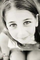 Sweet eyes (Sulafa) Tags: blackandwhite bw eyes niece beautifuleyes sham عيون شام أسودوأبيض عيونجميلة