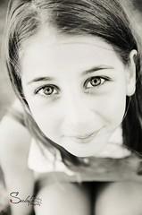 Sweet eyes (Sulafa) Tags: blackandwhite bw eyes niece beautifuleyes sham