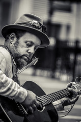 Music Is His Saving Grace (Off The Beaten Path Photography) Tags: life street musician music streets hat digital nikon artist play guitar indianapolis homeless indy indiana grace melody human sing sound strings saving dslr humans harmonica streetmusician in d7000 nikond7000