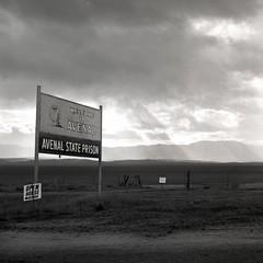 Avenal, California (Dave Glass . foto) Tags: california prison centralvalley sanjoaquinvalley rolleicord kingscounty stateprison avenal rolleicordv avenalca avenalcalifornia