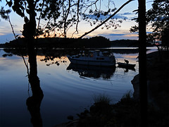 Light Scandinavian Nights - Finnish Lakeland (Lumatic) Tags: travel cruise blue trees sunset lake nature water weather night forest suomi finland landscape mirror boat finnland ship slow natural wind harbour calm clean adventure clear hour outlook wilderness scandinavian overview paimensaari