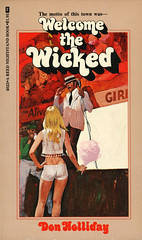 Reed Nightstand Books 4023 - Don Holliday - Welcome the Wicked (swallace99) Tags: reednightstand vintage paperback 70s sleaze robertbonfils greenleafclassics callipygian circusofsin candyfloss type:face=cruzswinger midway carnival