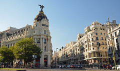 Gran Vía, Madrid (m_motylka) Tags: madrid madryt hiszpania españa otoño jesie autumn