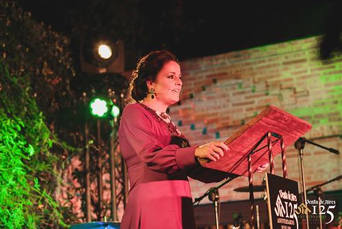 Miriam Galiano Marcos. Periodista Toledo. Presentación Evento 125 aniversario del Restaurante Venta de Aires.