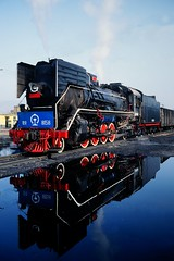 JS 8158 reflection (Frhtau) Tags: china  jln pond reflection reflextion shng peoples republic  train province people culture asia asian steam locomotive dampflok js 8138 class tonghua water scene station departure time  chinoise east depature view perspective dampf chine outdoor