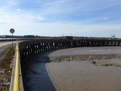 Curve (moley75) Tags: barkinganddagenham dagenham eastlondon footprintsoflondon industrialhistoryofdagenhamdock london lowtide mud pier thames thundererroad wharf