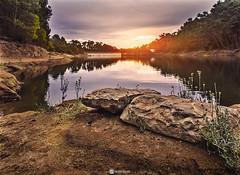 barragem do rio da mula (HugoSilvaDesigns) Tags: barragem dam water sand rocks sky clouds sun sunset autumn bright warm nature landscape canon 60d 1855mm