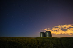 Silo Night (stevenbulman44) Tags: silo night cloud canon summer lseries color landscape white stars field tripod 1740f40l