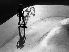 Skateboarding Black And White Extreme Sports Outdoors Day Skill  Skateboard Park Monochrome Photography Eye4photography  Full Length One Person Indoors  People (null) (dinalfs) Tags: skateboarding blackandwhite extremesports outdoors day skill skateboardpark monochromephotography eye4photography fulllength oneperson indoors people null