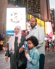 Family Portrait- Times Square (UrbanphotoZ) Tags: family muslim father mother daughter timessquare dusk waterbottle smart viacom westside manhattan newyorkcity newyork nyc ny